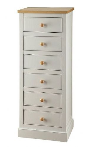 Toulouse Grey 6 Drawer Narrow Chest